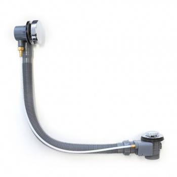 CABLE OPERATED REMOTE BATH PLUG & WASTE O/FLOW KIT 1300MM