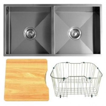 Q4 DOUBLE BOWL SQUARE CORNER SINK ACCESSORY PACK 1