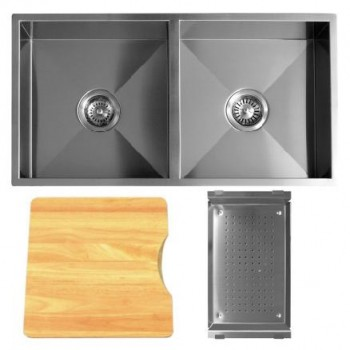 Q4 DOUBLE BOWL SQUARE CORNER SINK ACCESSORY PACK 2